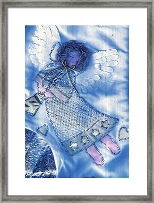 Angel Blue Framed Print by Anne-Elizabeth Whiteway