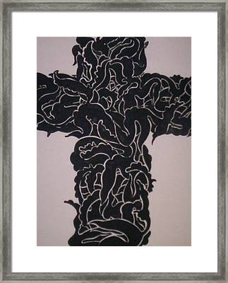 Angel Cross  Framed Print by Lee Thompson