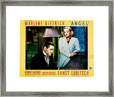 Angel, From Left Marlene Dietrich Framed Print by Everett