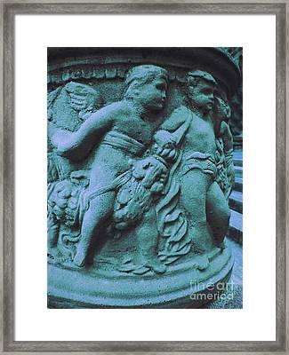 Angel In Blue   Framed Print by Ann Powell
