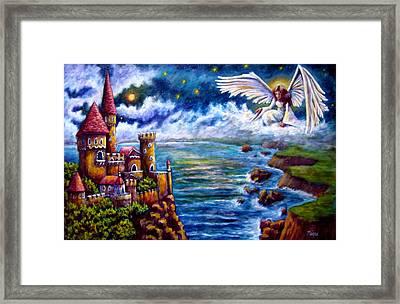 Angel In The Sky Framed Print