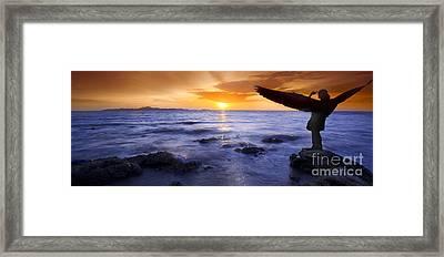 Angel Lady Framed Print