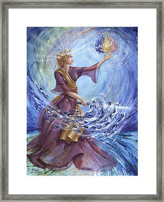 Angel Liberty Framed Print by Michael Baum
