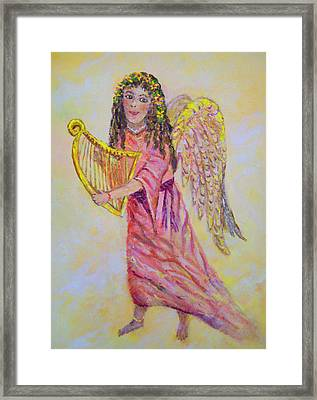 Framed Print featuring the painting Angel by Lou Ann Bagnall