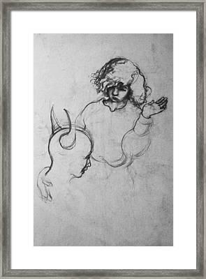 Angel Framed Print by Louis Gleason