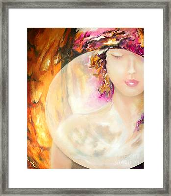 Framed Print featuring the painting Angel Luna by Michael Rock