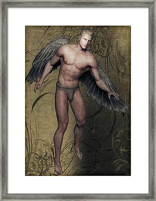 Framed Print featuring the painting Angel by Maynard Ellis