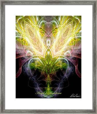 Angel Of Abundance Framed Print by Diana Haronis