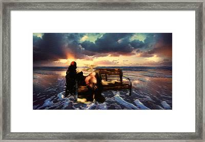 Angel Of The Ocean Framed Print