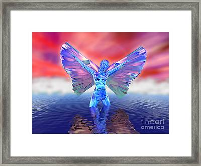 Angel On The Water Framed Print by Ricky Schneider