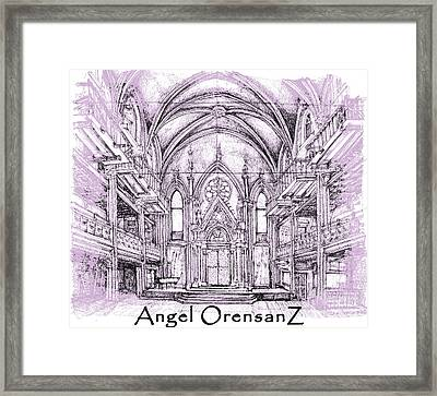 Angel Orensanz In Lilac  Framed Print by Building  Art