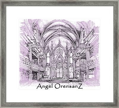 Angel Orensanz In Lilac  Framed Print