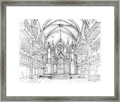 Angel Orensanz No 2 Framed Print by Building  Art