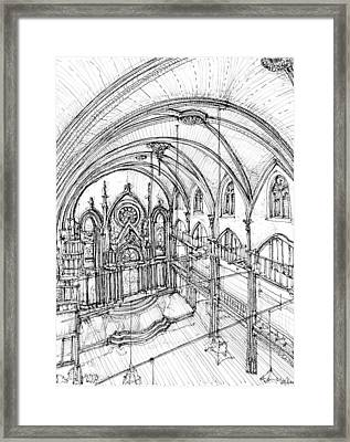 Angel Orensanz Sketch 3 Framed Print by Building  Art