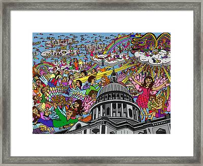 Angel Pickup And Delivery Framed Print