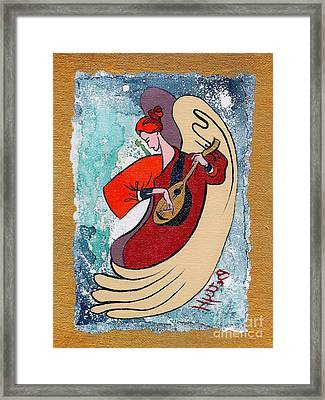 Angel Playing For Us No2 Framed Print by Elisabeta Hermann