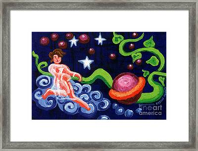 Angel Spinning Saturn Framed Print by Genevieve Esson