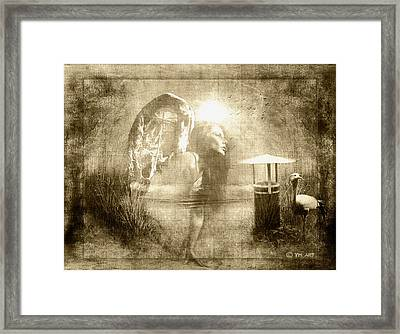Angel Spirit Sepia Framed Print