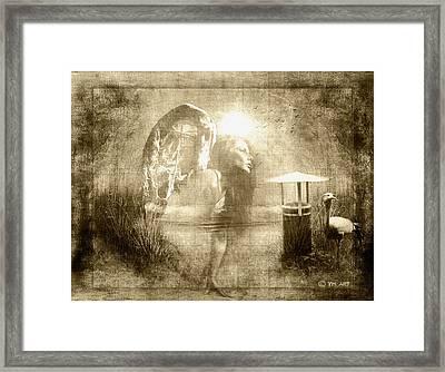 Angel Spirit Sepia Framed Print by Yvon van der Wijk