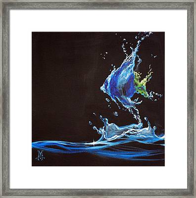 Angel Splash Framed Print by Marco Antonio Aguilar
