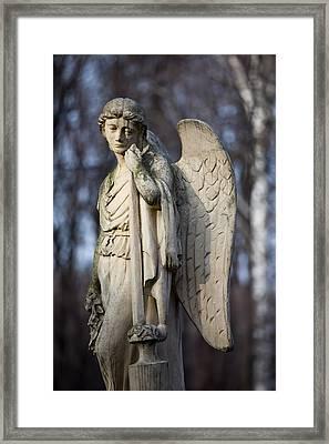 Angel Statue Framed Print by Artur Bogacki