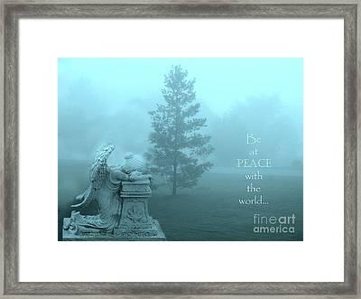 Angel Surreal Dreamy Aqua Teal Nature Inspirational Angel Art Framed Print
