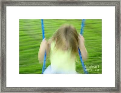 Angel Swing Framed Print by Aimelle