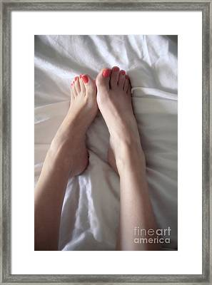 Angel Toes Framed Print by Tos