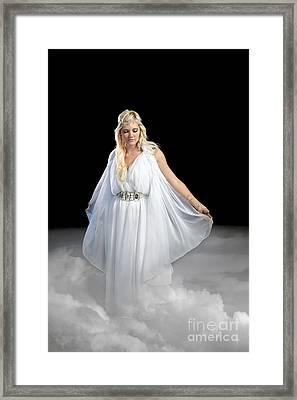 Angel Walking On Clouds Framed Print by Cindy Singleton