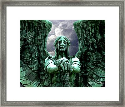 Framed Print featuring the photograph Angel Warrior by Anne Raczkowski