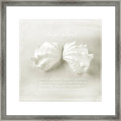 Angel Wings Framed Print by Linde Townsend