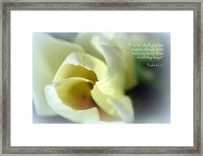 Angel Wings Tulip Psalm 91 Framed Print