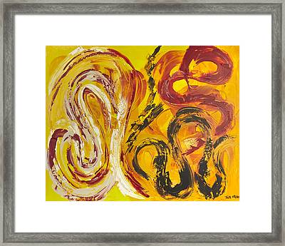 Angel With Love Framed Print by Thomas Kleiner