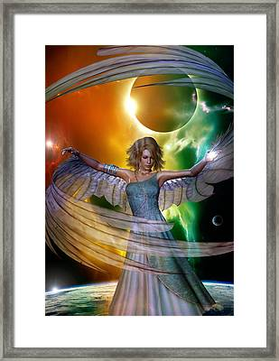 Framed Print featuring the digital art Angel With No Name by Shadowlea Is