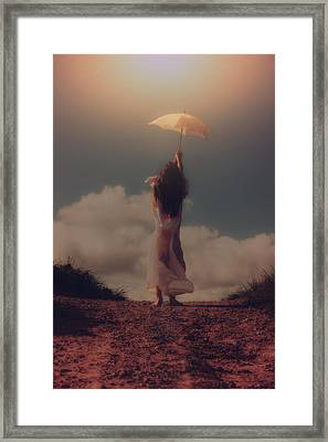Angel With Parasol Framed Print by Joana Kruse