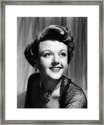 Angela Lansbury, 1950 Framed Print by Everett