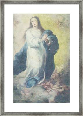 Angelic Mary  Framed Print by Unique Consignment