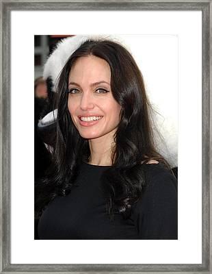Angelina Jolie At Arrivals For Dvd Framed Print by Everett