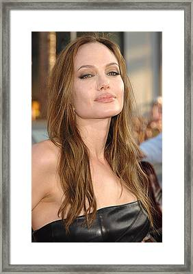 Angelina Jolie At Arrivals For Premiere Framed Print