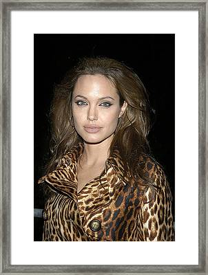 Angelina Jolie At Sharkspeare In The Framed Print by Everett