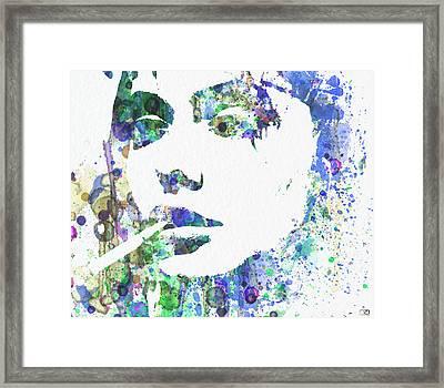Angelina Jolie Framed Print by Naxart Studio