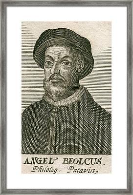 Angelo Beolco 1502-1542, Venetian Actor Framed Print by Everett