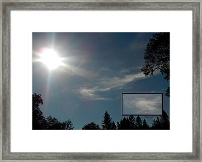 Angels Above Framed Print by Cindy Wright