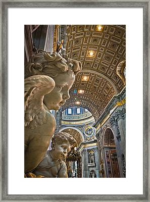 Angels At The Vatican 2 Framed Print