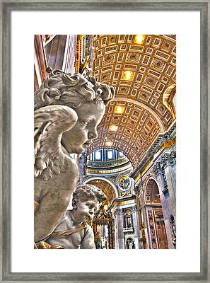 Angels At The Vatican Framed Print by Michael Yeager
