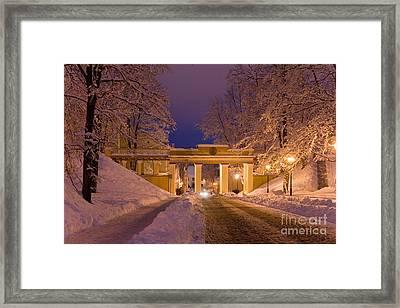 Angels Bridge In Winter Framed Print