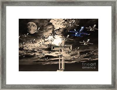 Angels In The Sky Framed Print by Wingsdomain Art and Photography