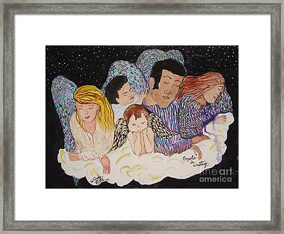 Angels In Waiting Framed Print by Windy Mountain