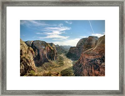 Angels Landing - Zion National Park Framed Print by Bryant Scannell