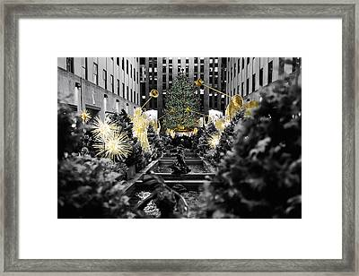 Angels Of New York City Framed Print by George Oze